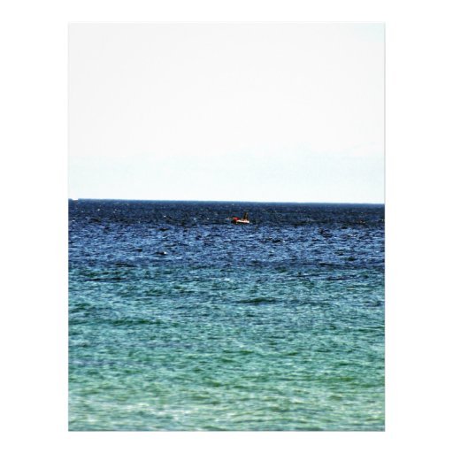 Ozean gegen blauen Himmel Individuelle Flyer
