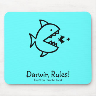 Ozean Glow_Darwin Regeln! Mauspads