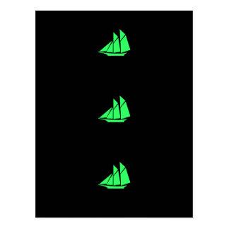 Ozean Glow_Green Scherer Postkarte