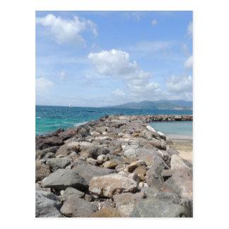 Ozean in Grenada Postkarte