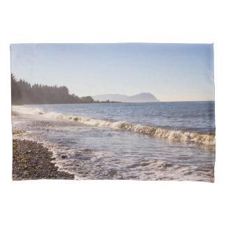 Ozean-Küstenlinie u. Strand-Wellen-Kissen-Kasten Kissenbezug
