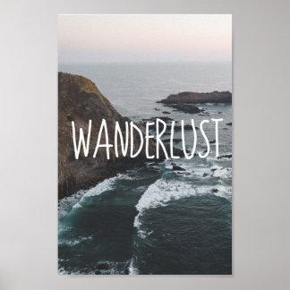 Ozean-Landschaft des Wanderlust-| Poster