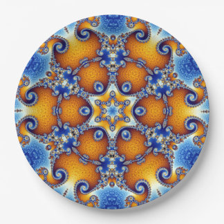 Ozean-Leben-Mandala Pappteller