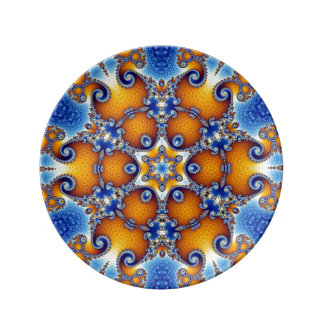 Ozean-Leben-Mandala Teller