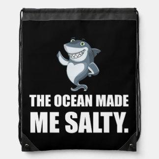 Ozean machte mich salzigen Haifisch Sportbeutel