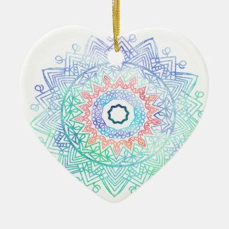 Ozean-madala. blaues Rosa des Aqua Keramik Herz-Ornament