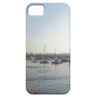 Ozean-Segeln-Segelboot-Boots-Hafen-Seejachthafen iPhone 5 Etui