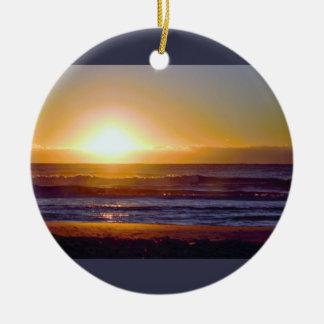Ozean-Sonnenaufgang-Foto Keramik Ornament