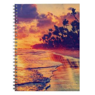 Ozean-Sonnenaufgang Magique Foto-Notizbuch Spiral Notizblock