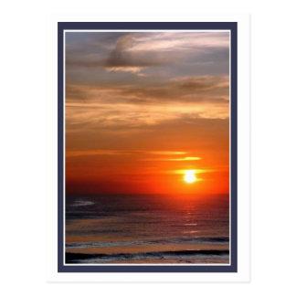 Ozean-Sonnenaufgang Postkarte