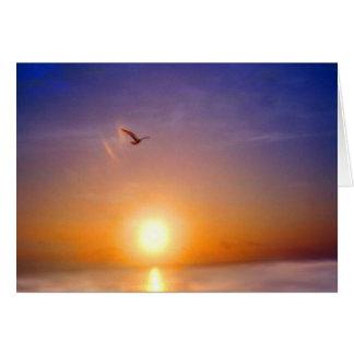 Ozean-Sonnenuntergang, der an Sie denkt Karte