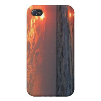 Ozean-Sonnenuntergang - Eichen-Insel, NC iPhone 4 Hülle