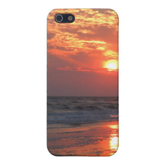 Ozean-Sonnenuntergang - Eichen-Insel, NC iPhone 5 Hülle