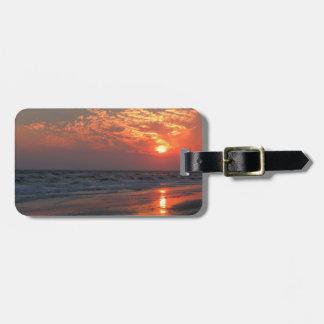 Ozean-Sonnenuntergang - Eichen-Insel, NC Kofferanhänger