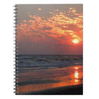 Ozean-Sonnenuntergang - Eichen-Insel, NC Notizblock