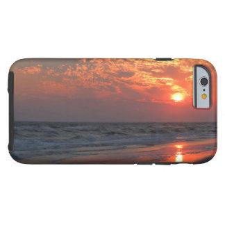 Ozean-Sonnenuntergang - Eichen-Insel, NC Tough iPhone 6 Hülle