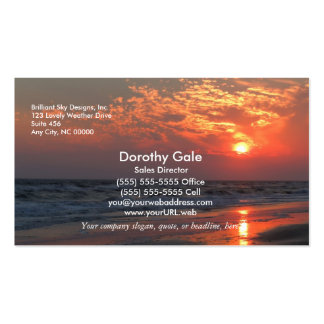 Ozean-Sonnenuntergang - Eichen-Insel, NC Visitenkarten