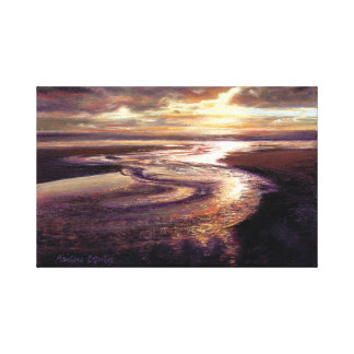 """Ozean-Sonnenuntergang-Strudel-"" Galerie Leinwanddruck"