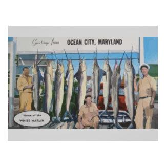 Ozean-Stadt, Maryland-Zuhause des weißen 21,6 X 27,9 Cm Flyer