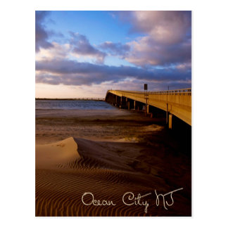 Ozean-Stadt-New-Jersey Sonnenuntergang auf Postkarte
