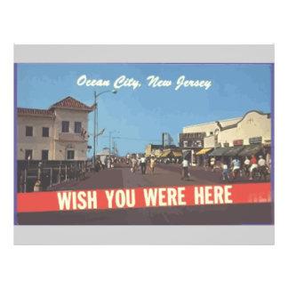 Ozean-Stadt, New-Jersey, Vintag Flyer