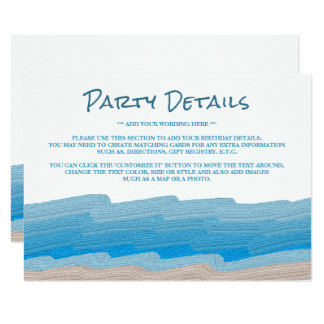 Ozean-Strand-Geburtstags-Party-Sonderkommando Karte