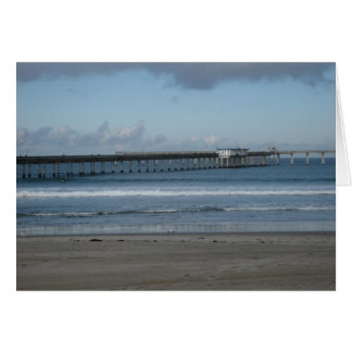 Ozean-Strand-Pier-Winter Karte