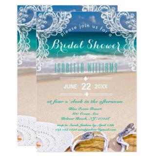 Ozean-Strand-Sommer-Brautparty-Einladung 12,7 X 17,8 Cm Einladungskarte