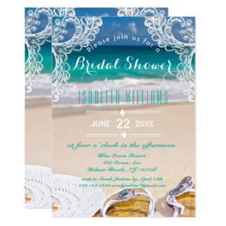 Ozean-Strand-Sommer-Brautparty-Einladung Karte