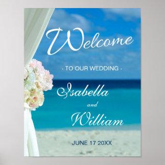 Ozean-Strand-Sommer-Hochzeit des Poster