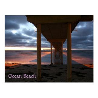 Ozean-Strandpier Postkarte