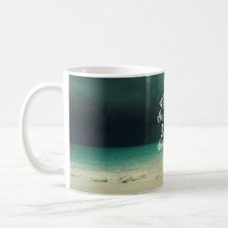 Ozean-Sturm mit Gott-Zitat Kaffeetasse