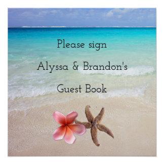 Ozean-Szenen-Zeichen-Hochzeits-Gast-Buch Perfektes Poster