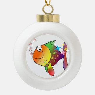 Ozean-Thunfische des Regenbogens multi Farb Keramik Kugel-Ornament