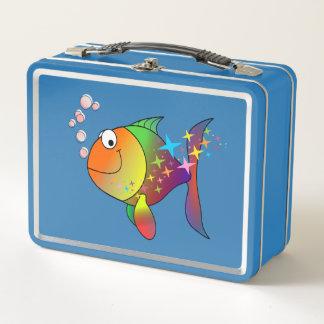 Ozean-Thunfische des Regenbogens multi Farb Metall Lunch Box
