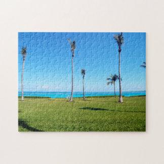 Ozean-und Palmen-Landschaft Puzzle