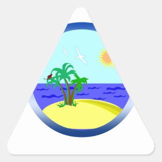 Ozean und Sonnenlicht Dreieckiger Aufkleber