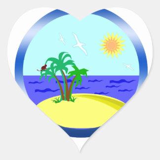 Ozean und Sonnenlicht Herz-Aufkleber
