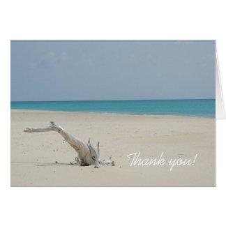 Ozean-und Strand-Treibholz danken Ihnen zu Karte