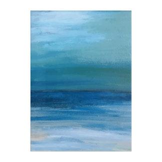 Ozean-und Strand-Wellen-Malerei Acryldruck