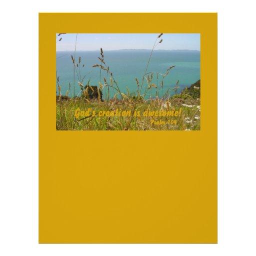 Ozean Vista - Psalm 104 Vollfarbige Flyer