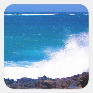 Ozean von Lanzarote Quadratischer Aufkleber
