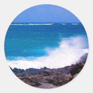 Ozean von Lanzarote Runder Aufkleber
