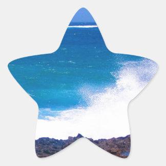 Ozean von Lanzarote Stern-Aufkleber