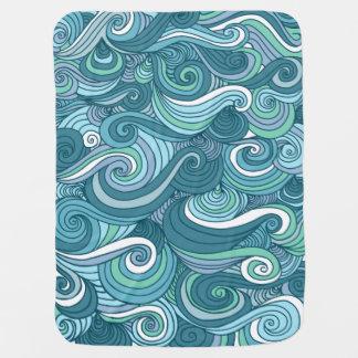 Ozean-Wellen-Linie Zeichnen Puckdecke
