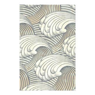 Ozean-Wellen-Muster-alte Japan-Kunst Flyer