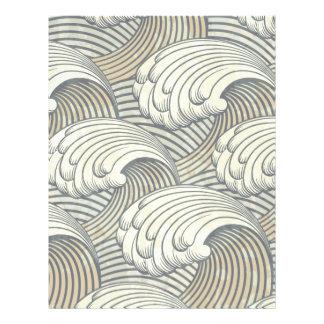 Ozean-Wellen-Muster-alte Japan-Kunst 21,6 X 27,9 Cm Flyer