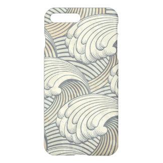 Ozean-Wellen-Muster-alte Japan-Kunst iPhone 7 Plus Hülle