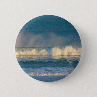 Ozean-Wellen-Spray Runder Button 5,7 Cm