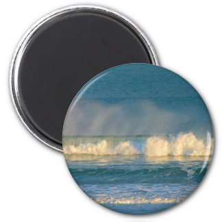 Ozean-Wellen-Spray Runder Magnet 5,1 Cm